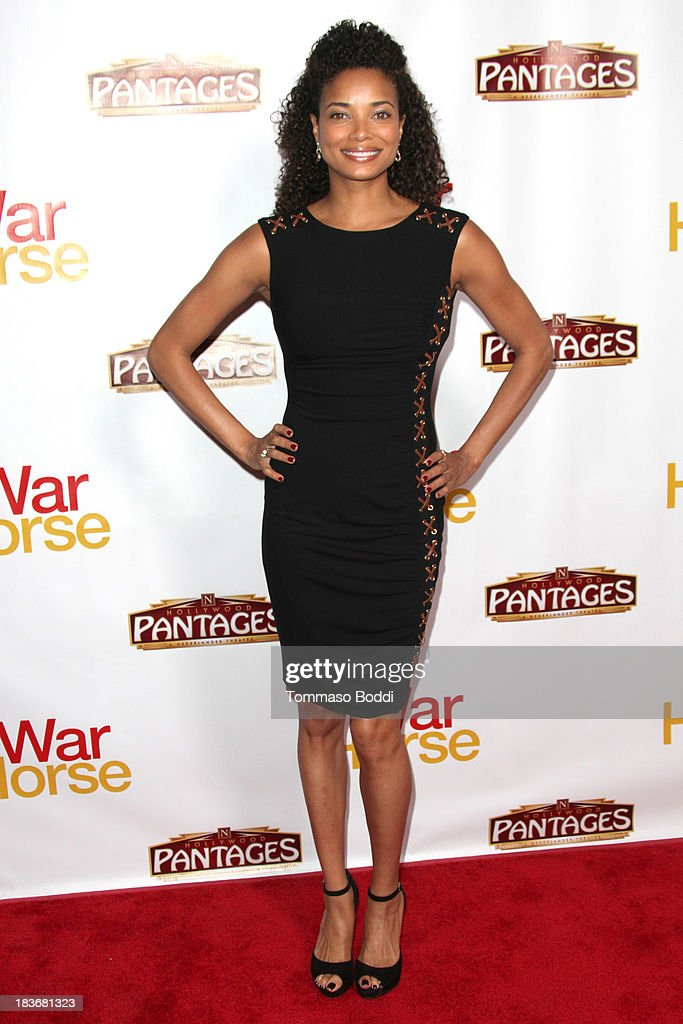 Actress <a gi-track='captionPersonalityLinkClicked' href=/galleries/search?phrase=Rochelle+Aytes&family=editorial&specificpeople=843599 ng-click='$event.stopPropagation()'>Rochelle Aytes</a> attends the 'War Horse' Los Angeles opening night held at the Pantages Theatre on October 8, 2013 in Hollywood, California.