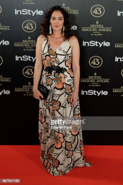 Actress Rocio Munoz attends the 'El Jardin del Miguel Angel' party photocall at Miguel Angel hotel on May 24 2017 in Madrid Spain