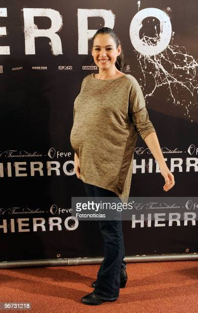 Actress Rocio Munoz attends the 'Hierro' premiere at Callao Cinema on January 12 2010 in Madrid Spain