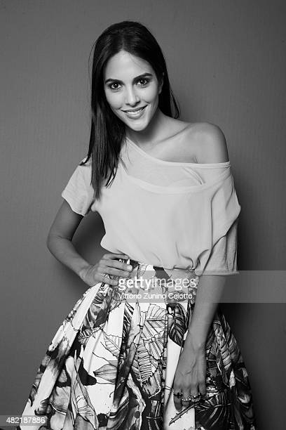 Actress Rocio Munoz is photographed for Self Assignment on July 25 2015 in Giffoni Valle Piana Italy