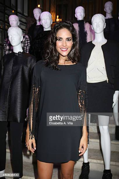 Actress Rocio Munoz Morales attends Sandro Ferrone F/W 2015/16 Collection Presentation as part of AltaRoma AltaModa Fashion Week Fall/Winter 2015/16...