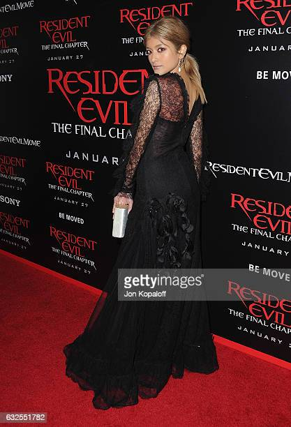 Actress Rola arrives at the Los Angeles premiere 'Resident Evil The Final Chapter' at Regal LA Live A Barco Innovation Center on January 23 2017 in...