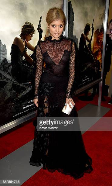 Actress Rola arrives at the premiere of Sony Pictures Releasing's 'Resident Evil The Final Chapter' at the Regal LA Live Theatres on January 23 2017...
