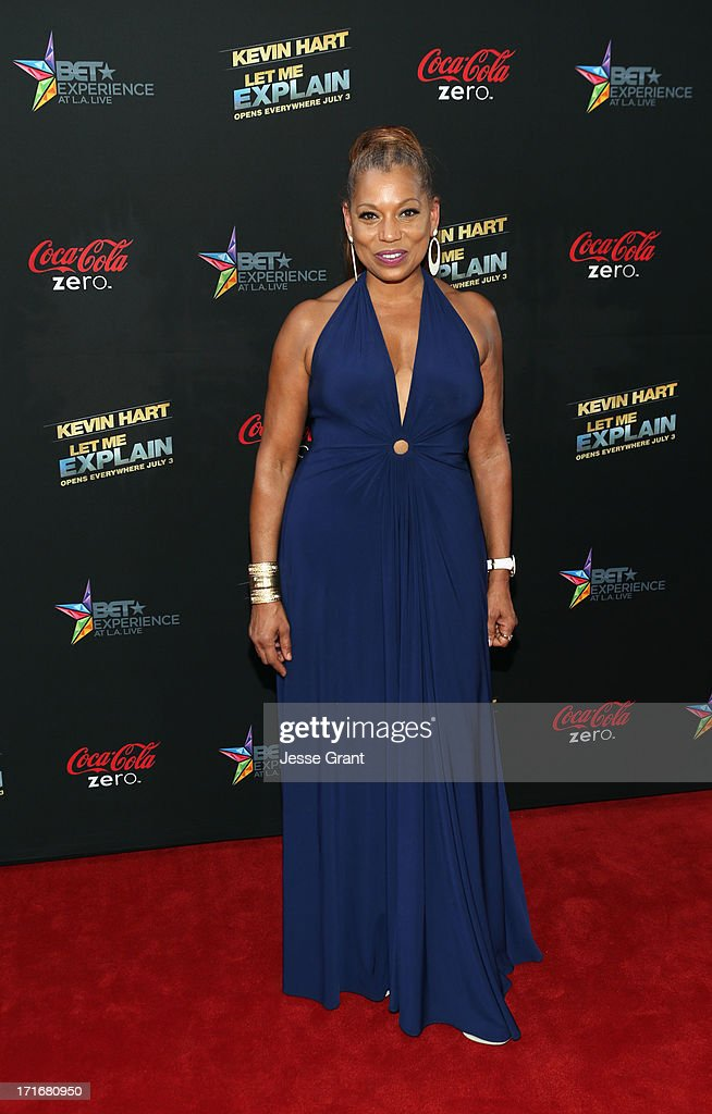 Actress Rolonda Watts attends Movie Premiere 'Let Me Explain' with Kevin Hart during the 2013 BET Experience at Regal Cinemas L.A. Live on June 27, 2013 in Los Angeles, California.