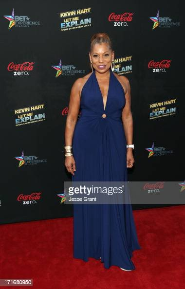 Actress Rolonda Watts attends Movie Premiere 'Let Me Explain' with Kevin Hart during the 2013 BET Experience at Regal Cinemas LA Live on June 27 2013...