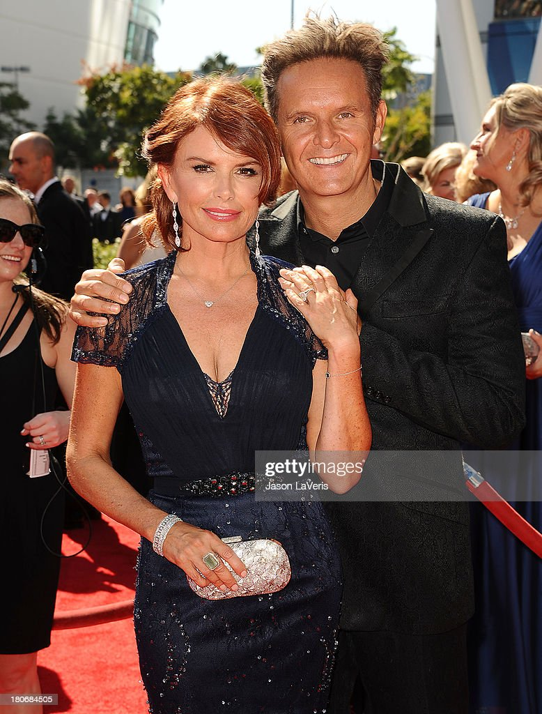 Actress <a gi-track='captionPersonalityLinkClicked' href=/galleries/search?phrase=Roma+Downey&family=editorial&specificpeople=214162 ng-click='$event.stopPropagation()'>Roma Downey</a> and producer <a gi-track='captionPersonalityLinkClicked' href=/galleries/search?phrase=Mark+Burnett&family=editorial&specificpeople=204697 ng-click='$event.stopPropagation()'>Mark Burnett</a> attend the 2013 Creative Arts Emmy Awards at Nokia Theatre L.A. Live on September 15, 2013 in Los Angeles, California.