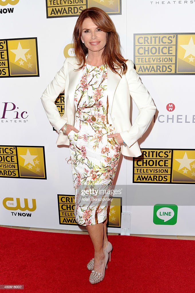 Actress Roma Downey arrives at the 4th Annual Critics' Choice Television Awards at The Beverly Hilton Hotel on June 19 2014 in Beverly Hills...
