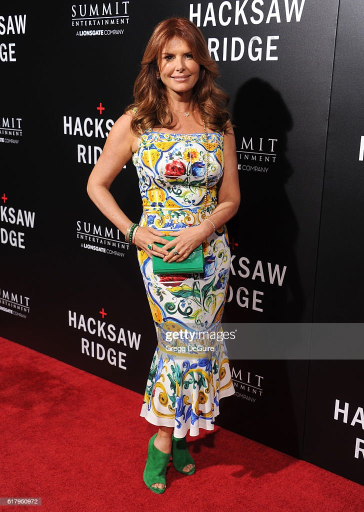 Actress Roma Downey arrives at the screening of Summit Entertainment's 'Hacksaw Ridge' at Samuel Goldwyn Theater on October 24, 2016 in Beverly Hills, California.