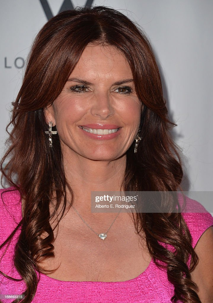 Actress Roma Downey arrives to The Geffen Playhouse's Annual 'Backstage at the Geffen' Gala at Geffen Playhouse on May 13, 2013 in Los Angeles, California.
