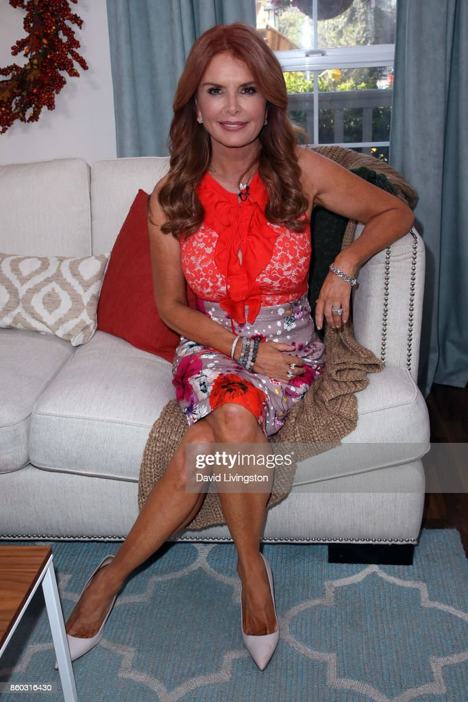 Actress Roma Downey attends Hallmark's 'Home & Family' at Universal Studios Hollywood on October 11, 2017 in Universal City, California.