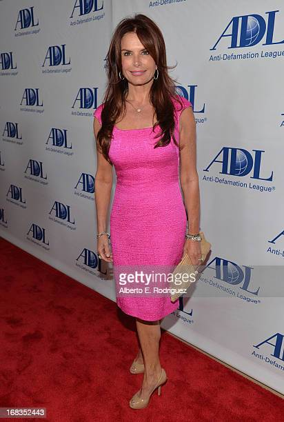 Actress Roma Downey attends the AntiDefamation League's Centennial Entertainment Industry Award Dinner at The Beverly Hilton Hotel on May 8 2013 in...