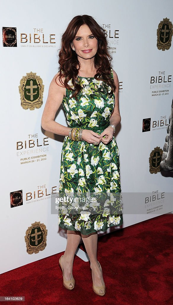 Actress Roma Downey attends 'The Bible Experience' Opening Night Gala at The Bible Experience on March 19, 2013 in New York City.