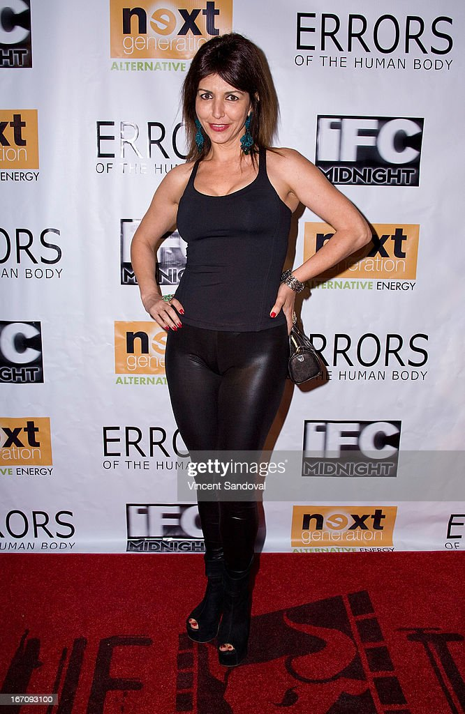 Actress Romina Caruana attends the Los Angeles special screening of 'Errors Of The Human Body' at Arena Cinema Hollywood on April 19, 2013 in Hollywood, California.