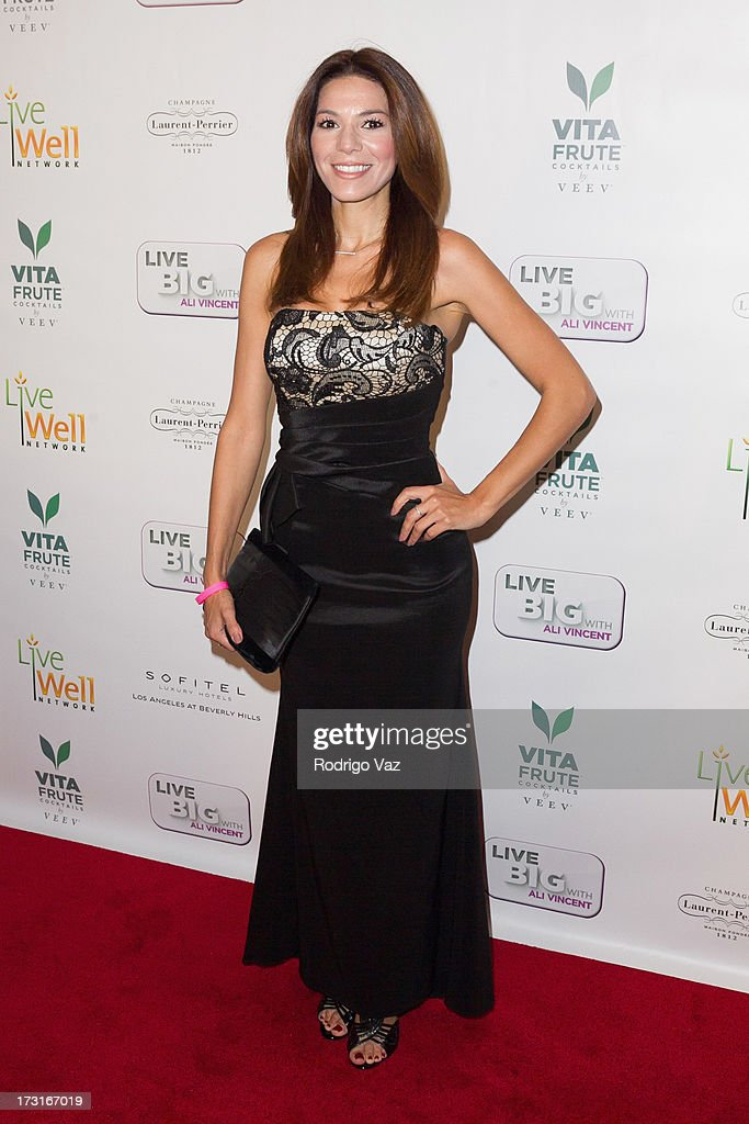 Actress Romina Laino arrives at 'Live Big With Ali Vincent' Season 3 launch party at Sofitel Hotel on July 8, 2013 in Los Angeles, California.