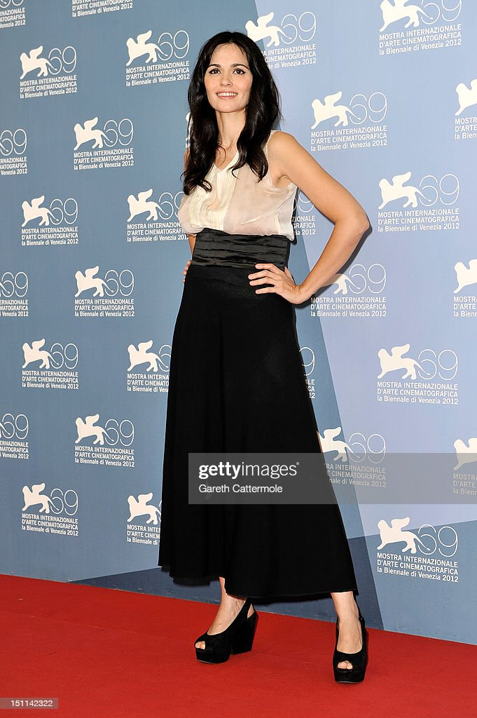Actress Romina Mondello attends the 'To The Wonder' Photocall during the 69th Venice Film Festival at the Palazzo del Casino on September 2, 2012 in Venice, Italy.