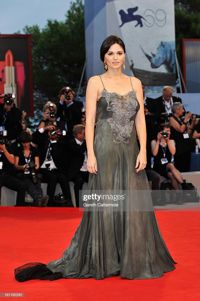 Actress Romina Mondello attends the 'To The Wonder' Premiere during the 69th Venice Film Festival at the Palazzo del Cinema on September 2, 2012 in Venice, Italy.