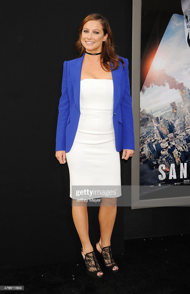 Actress Romy Poulier arrives at the 'San Andreas' - Los Angeles Premiere at TCL Chinese Theatre IMAX on May 26, 2015 in Hollywood, California.
