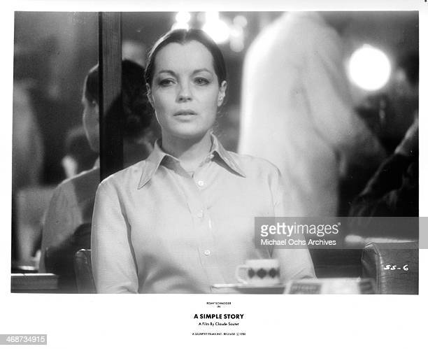 Actress Romy Schneider on set of the movie 'A Simple Story' circa 1978