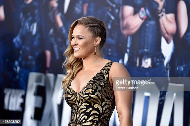 Actress Ronda Rousey arrives at the Premiere Of Lionsgate Films' 'The Expendables 3' at TCL Chinese Theatre on August 11 2014 in Hollywood California