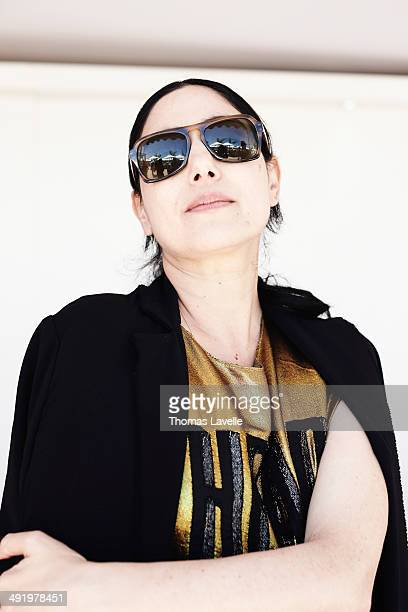 Actress Ronit Elkabetz is photographed for Self Assignment on May 15 2014 in Cannes France