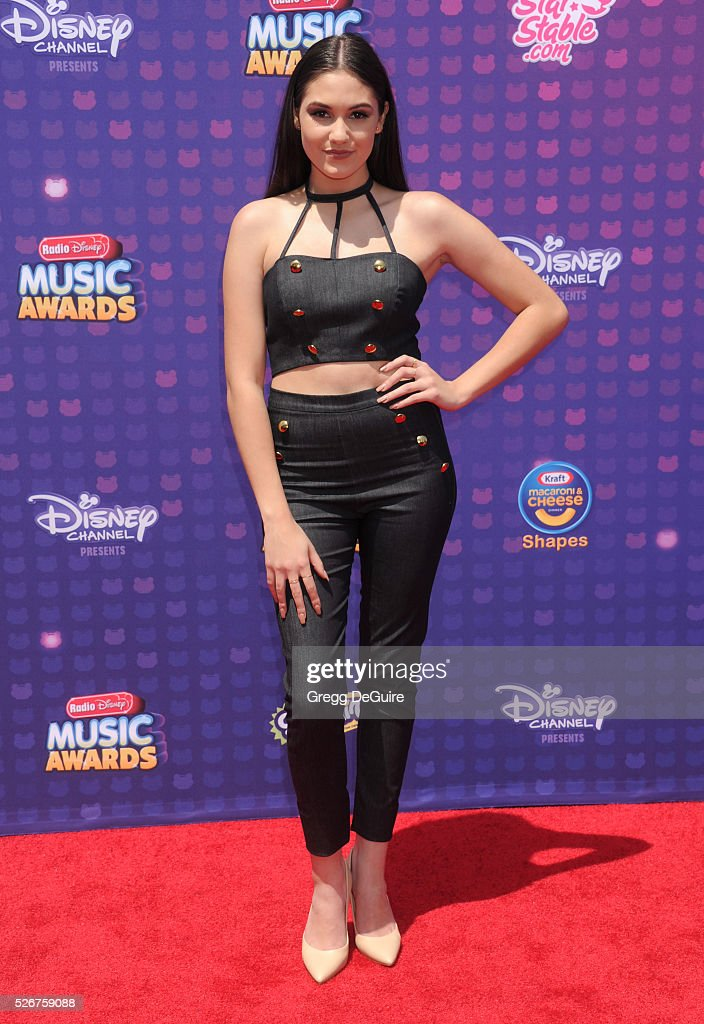 Actress Ronni Hawk arrives at the 2016 Radio Disney Music Awards at Microsoft Theater on April 30, 2016 in Los Angeles, California.