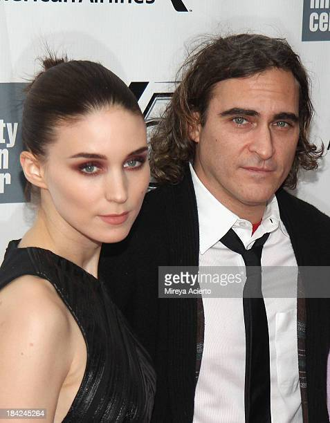 Actress Rooney Mara and actor Joaquin Phoenix attend the Closing Night Gala Presentation Of 'Her' during the 51st New York Film Festival at Alice...