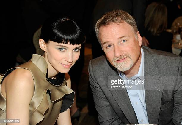 Actress Rooney Mara and Director David Fincher attend the 12th Annual AFI Awards held at the Four Seasons Hotel Los Angeles at Beverly Hills on...