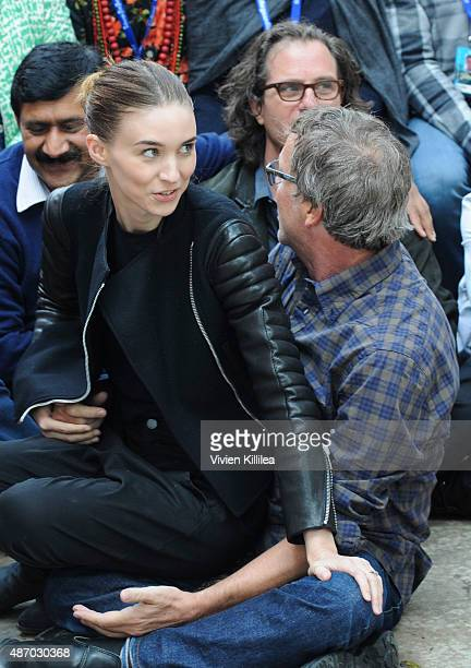 Actress Rooney Mara and director Todd Haynes attend the 2015 Telluride Film Festival on September 5 2015 in Telluride Colorado