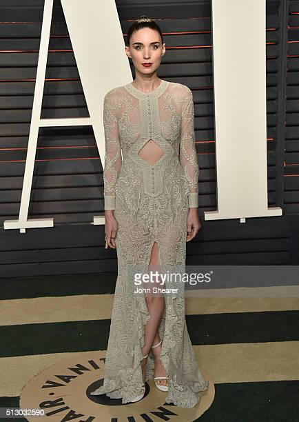 Actress Rooney Mara arrives at the 2016 Vanity Fair Oscar Party Hosted By Graydon Carter at Wallis Annenberg Center for the Performing Arts on...