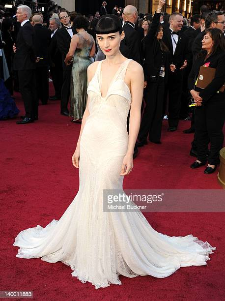 Actress Rooney Mara arrives at the 84th Annual Academy Awards held at the Hollywood Highland Center on February 26 2012 in Hollywood California