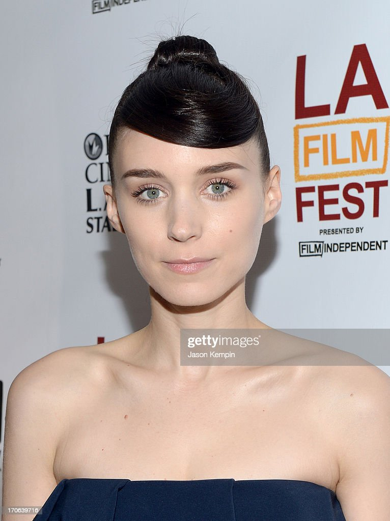 Actress <a gi-track='captionPersonalityLinkClicked' href=/galleries/search?phrase=Rooney+Mara&family=editorial&specificpeople=5669181 ng-click='$event.stopPropagation()'>Rooney Mara</a> arrives at the 'Ain't Them Bodies Saints' premiere during the 2013 Los Angeles Film Festival at Regal Cinemas L.A. Live on June 15, 2013 in Los Angeles, California.