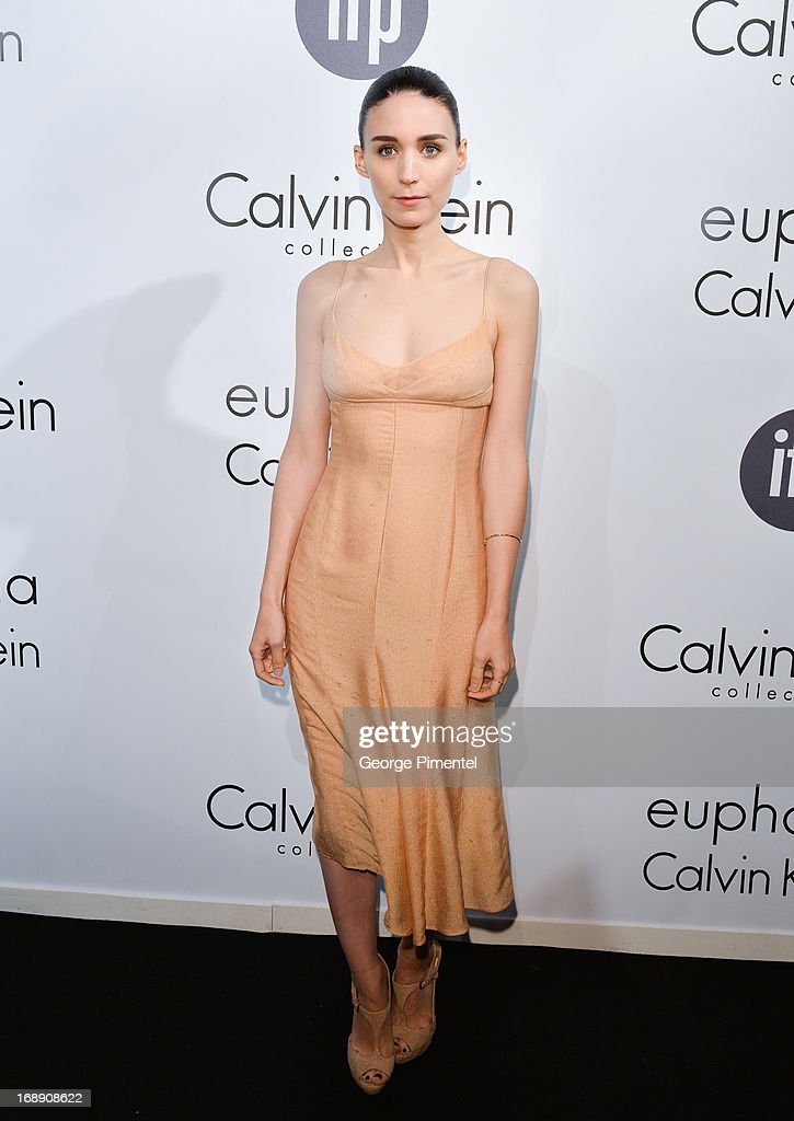 Actress <a gi-track='captionPersonalityLinkClicked' href=/galleries/search?phrase=Rooney+Mara&family=editorial&specificpeople=5669181 ng-click='$event.stopPropagation()'>Rooney Mara</a> attends a party hosted by Calvin Klein and IFP to celebrate women in film at The 66th Annual Cannes Film Festival at L'Ecrin Plage on May 16, 2013 in Cannes, France.