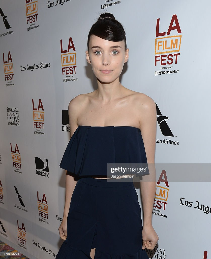 Actress <a gi-track='captionPersonalityLinkClicked' href=/galleries/search?phrase=Rooney+Mara&family=editorial&specificpeople=5669181 ng-click='$event.stopPropagation()'>Rooney Mara</a> attends the 2013 Los Angeles Film Festival Screening Of IFC Films' 'Ain't Them Bodies Saints' at Regal Cinemas L.A. Live on June 15, 2013 in Los Angeles, California.