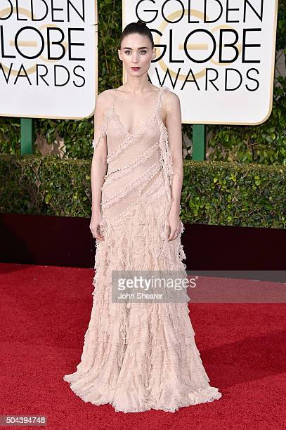 Actress Rooney Mara attends the 73rd Annual Golden Globe Awards held at the Beverly Hilton Hotel on January 10 2016 in Beverly Hills California