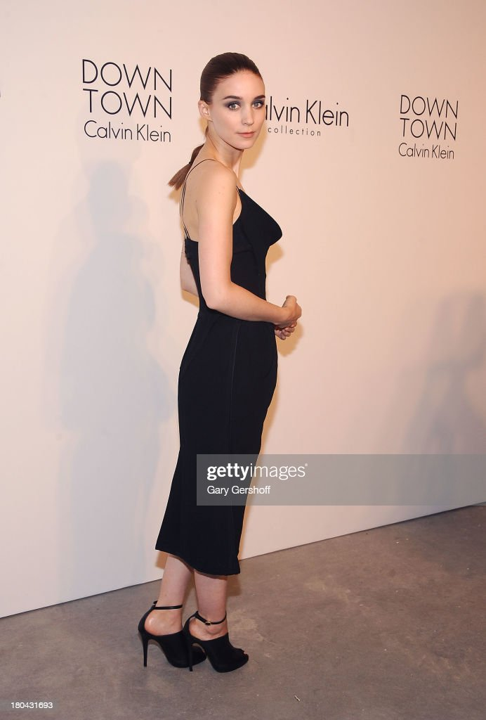Actress <a gi-track='captionPersonalityLinkClicked' href=/galleries/search?phrase=Rooney+Mara&family=editorial&specificpeople=5669181 ng-click='$event.stopPropagation()'>Rooney Mara</a> attends the Calvin Klein Collection post show event at Spring Studios on September 12, 2013 in New York City.