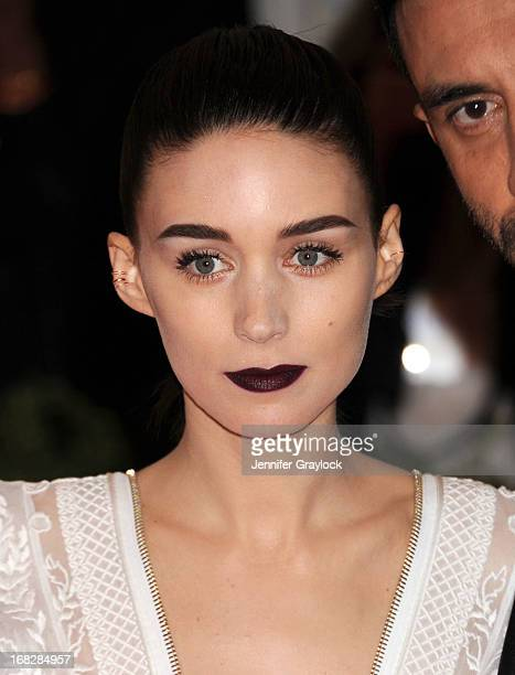Actress Rooney Mara attends the Costume Institute Gala for the 'PUNK Chaos to Couture' exhibition at the Metropolitan Museum of Art on May 6 2013 in...
