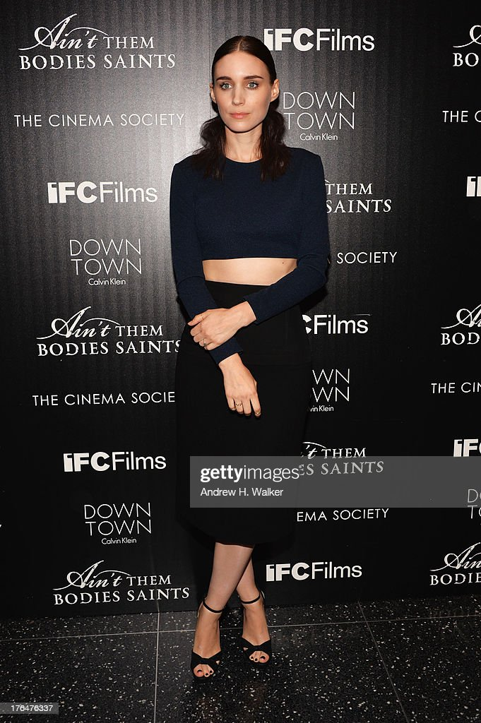 Actress Rooney Mara attends the Downtown Calvin Klein with The Cinema Society screening of IFC Films' 'Ain't Them Bodies Saints' at the Museum of...