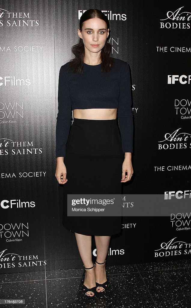 Actress <a gi-track='captionPersonalityLinkClicked' href=/galleries/search?phrase=Rooney+Mara&family=editorial&specificpeople=5669181 ng-click='$event.stopPropagation()'>Rooney Mara</a> attends the Downtown Calvin Klein with The Cinema Society screening of IFC Films' 'Ain't Them Bodies Saints' at The Museum of Modern Art on August 13, 2013 in New York City.