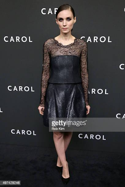 Actress Rooney Mara attends the New York premiere of 'Carol' at the Museum of Modern Art on November 16 2015 in New York City