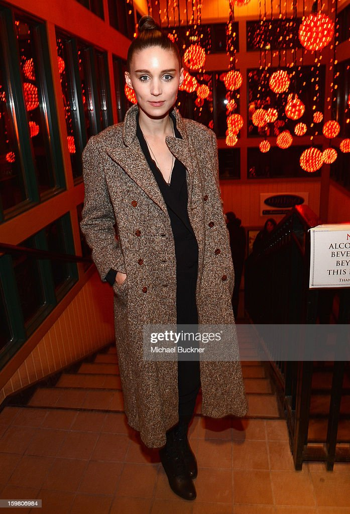 Actress Rooney Mara attends the NYLON + ASOS Celebrates 'Ain't Them Bodies Saints' Dinner at Wahso on January 20, 2013 in Park City, Utah.