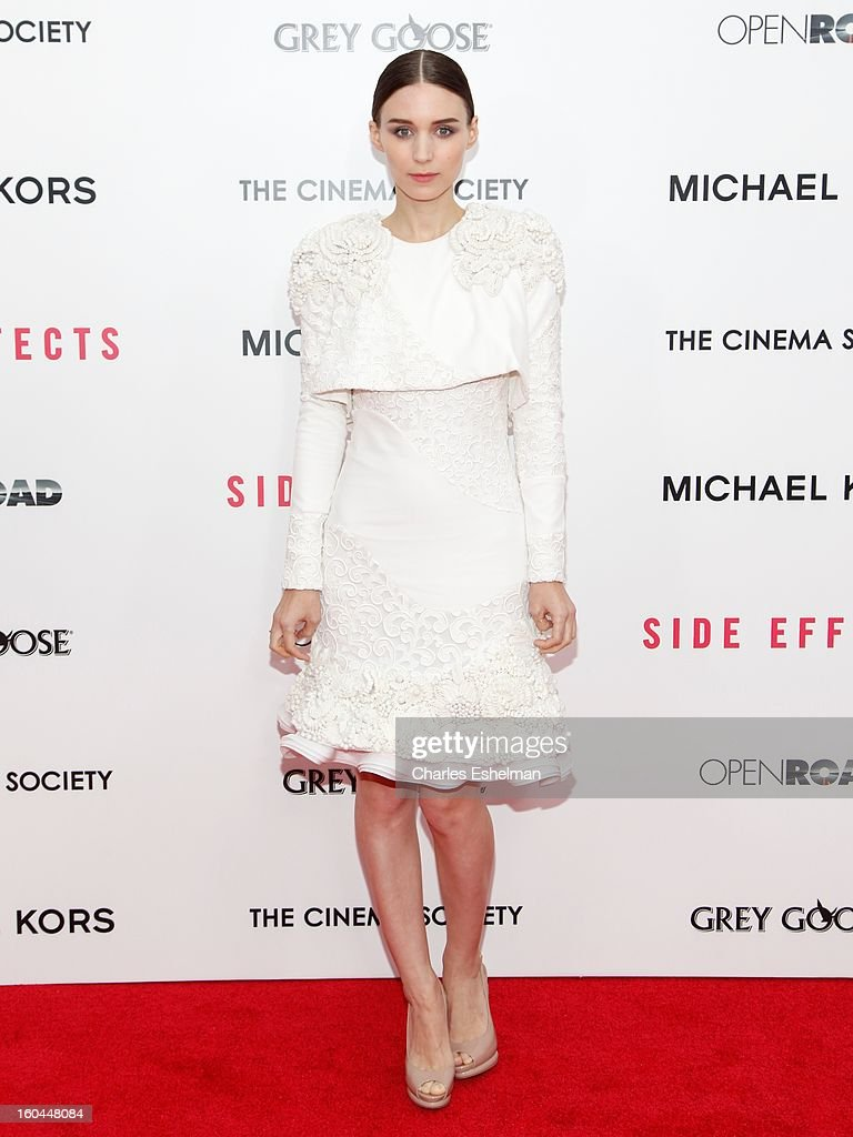 Actress Rooney Mara attends the Open Road, The Cinema Society & Michael Kors premiere of 'Side Effects' at AMC Loews Lincoln Square on January 31, 2013 in New York City.
