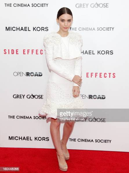 Actress Rooney Mara attends the Open Road The Cinema Society Michael Kors premiere of 'Side Effects' at AMC Loews Lincoln Square on January 31 2013...