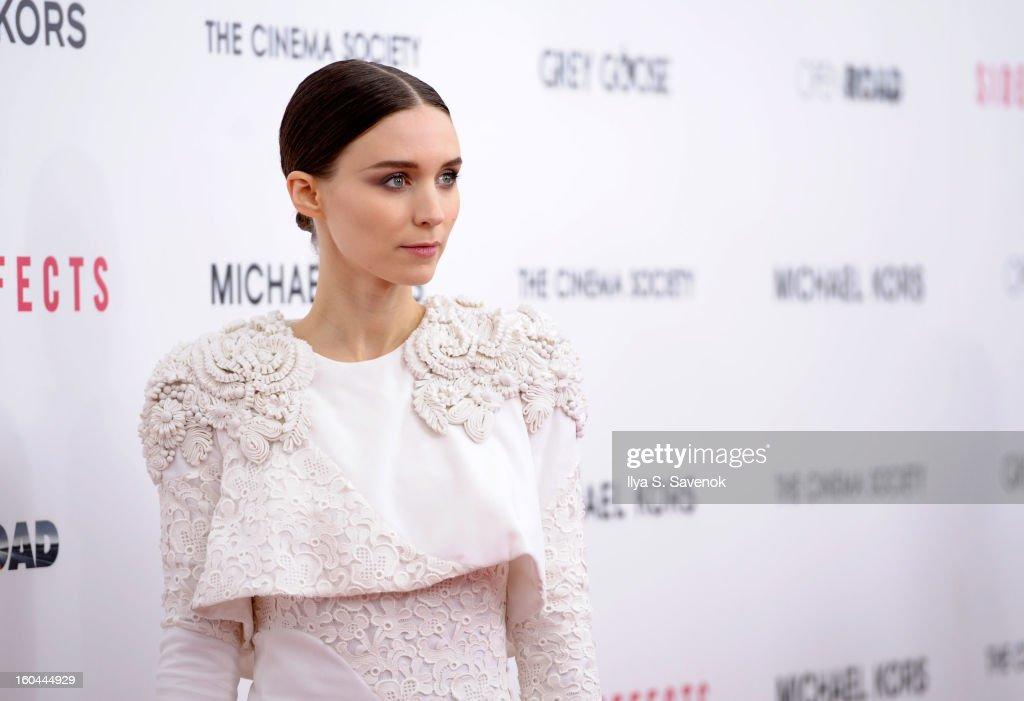 Actress Rooney Mara attends the premiere of 'Side Effects' hosted by Open Road with The Cinema Society and Michael Kors at AMC Lincoln Square Theater on January 31, 2013 in New York City.