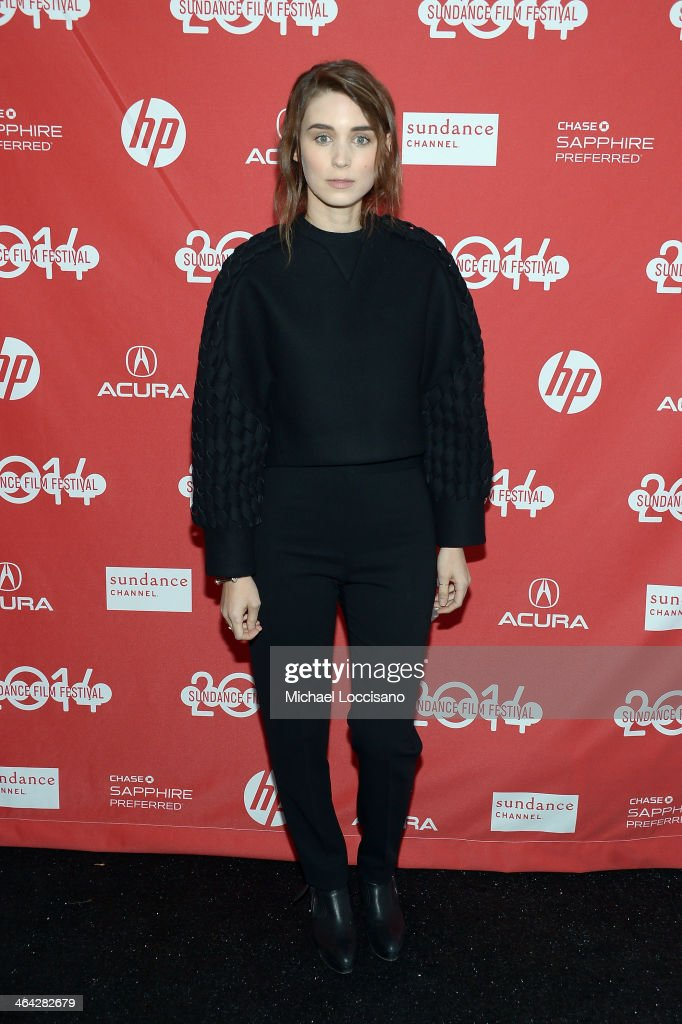 Actress <a gi-track='captionPersonalityLinkClicked' href=/galleries/search?phrase=Rooney+Mara&family=editorial&specificpeople=5669181 ng-click='$event.stopPropagation()'>Rooney Mara</a> attends the premiere of 'The One I Love' at The Marc Theatre during the 2014 Sundance Film Festival on January 21, 2014 in Park City, Utah.