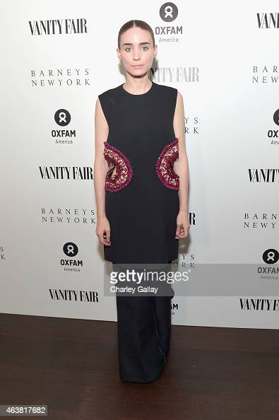 Actress Rooney Mara attends VANITY FAIR and Barneys New York Dinner benefiting OXFAM hosted by Rooney Mara at Chateau Marmont on February 18 2015 in...