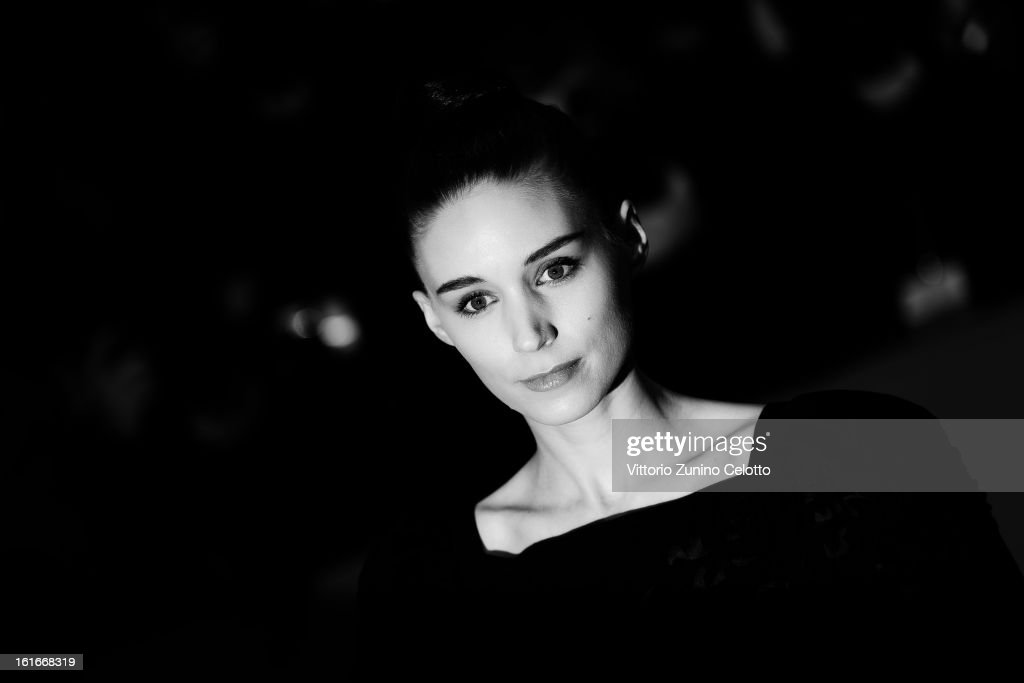 Actress <a gi-track='captionPersonalityLinkClicked' href=/galleries/search?phrase=Rooney+Mara&family=editorial&specificpeople=5669181 ng-click='$event.stopPropagation()'>Rooney Mara</a> during the 63rd Berlinale International Film Festival at Berlinale Palast on February 12, 2013 in Berlin, Germany.