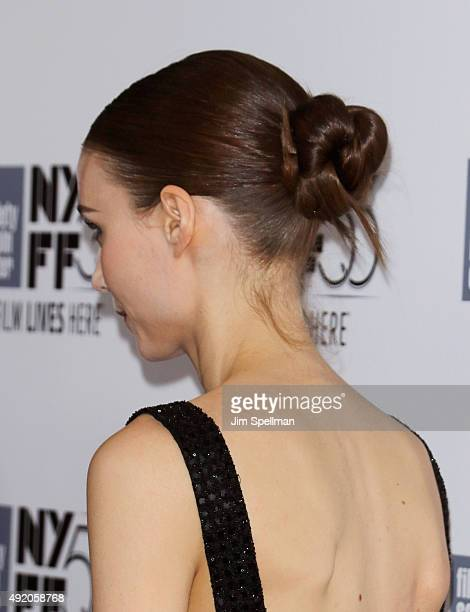 Actress Rooney Mara hair detail attends the 53rd New York Film Festival premiere of 'Carol' at Alice Tully Hall on October 9 2015 in New York City