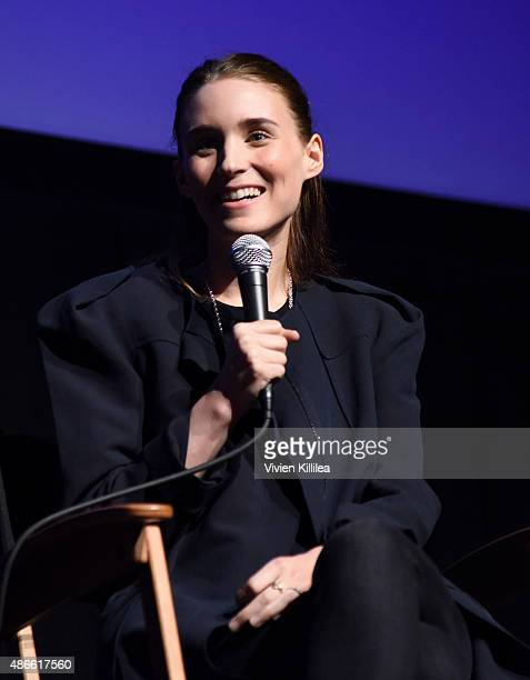 Actress Rooney Mara is awarded a silver medallion at the 2015 Telluride Film Festival on September 4 2015 in Telluride Colorado