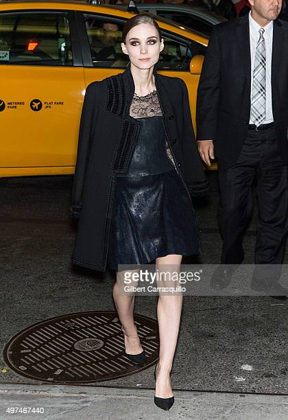 Actress Rooney Mara is seen arriving to the New York premiere of 'Carol' at the Museum of Modern Art on November 16 2015 in New York City