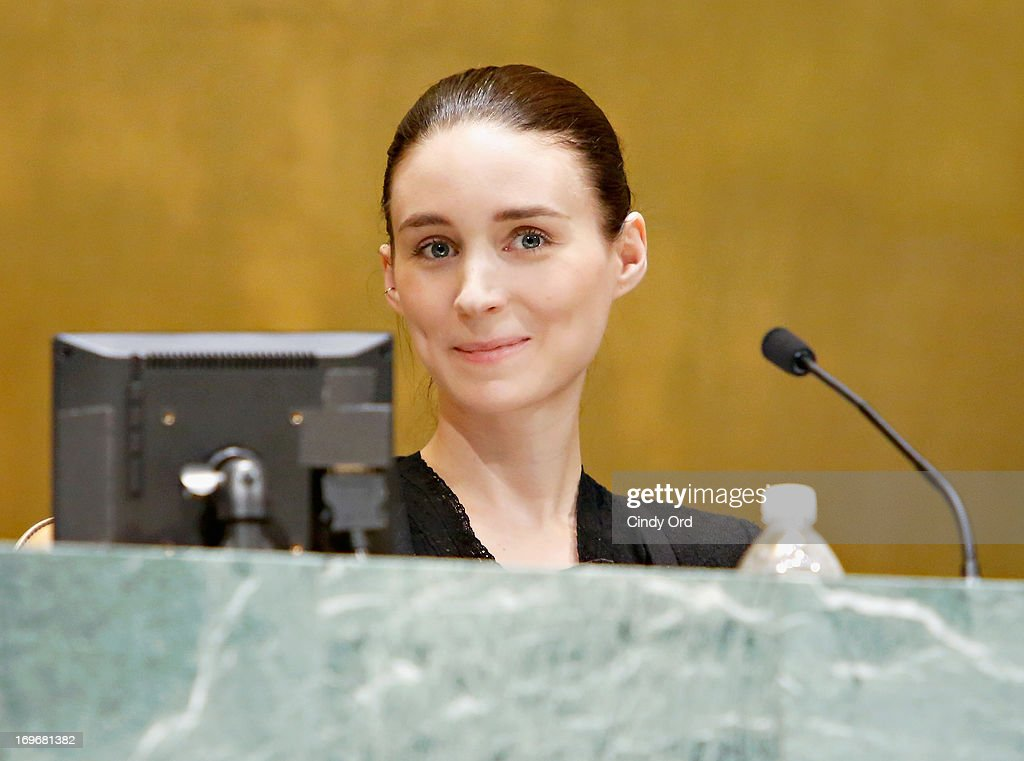 Actress <a gi-track='captionPersonalityLinkClicked' href=/galleries/search?phrase=Rooney+Mara&family=editorial&specificpeople=5669181 ng-click='$event.stopPropagation()'>Rooney Mara</a> speaks about her non-profit organization Uweza Foundation during the Social Innovation Summit May 2013 - Day Two on May 30, 2013 in New York City.